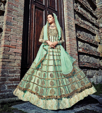 Blue,Net,Heavy anarkali designer long floor length