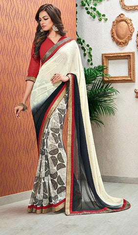 Saree Multicolor,Poly Georgette