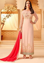 Pink Georgette Party Wear Suit With  Dupatta