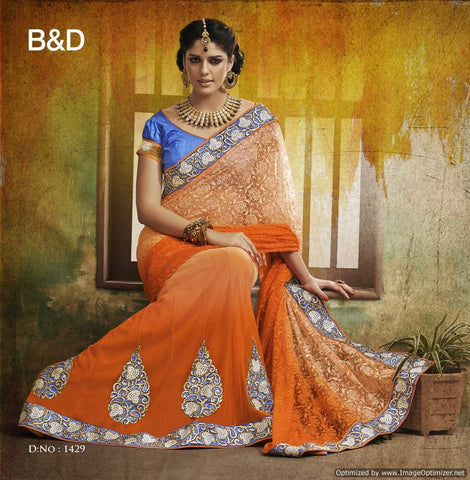women in designer  saree