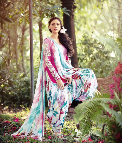 Patiyala suits Pink  ,cotton jaquard