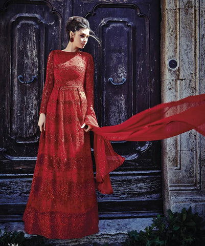 Red,Net,Heavy bridal wedding wear anarkali suits