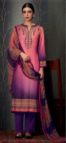 Multicolor,Pashmina,Straight designer suits