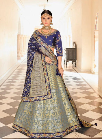 Bridal And Partywear Lehenga With Work