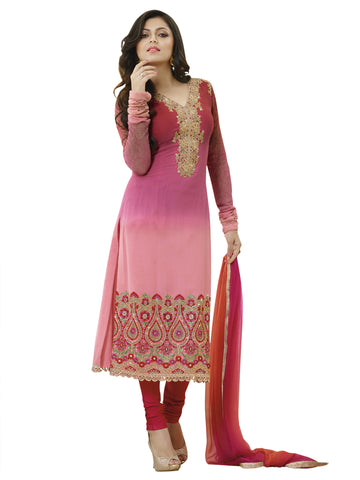 Pink,Georgette,Straight designer party wear suits