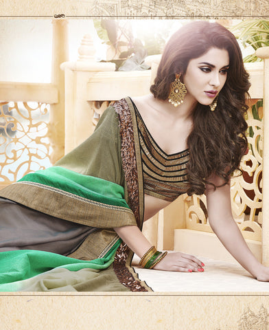 Designer Chiffon and Jute Net Saree