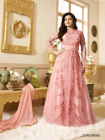 Pink,Net,Heavy party wear designer suits