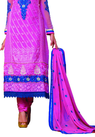 Pink Georgette Party Wear suits