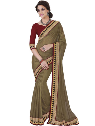 Saree Golden ,Georgette