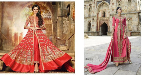 Red Anarkali Suit with heavy work