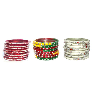 Designer Rajasthani Glass bangle set of 24 bangle in multicolor