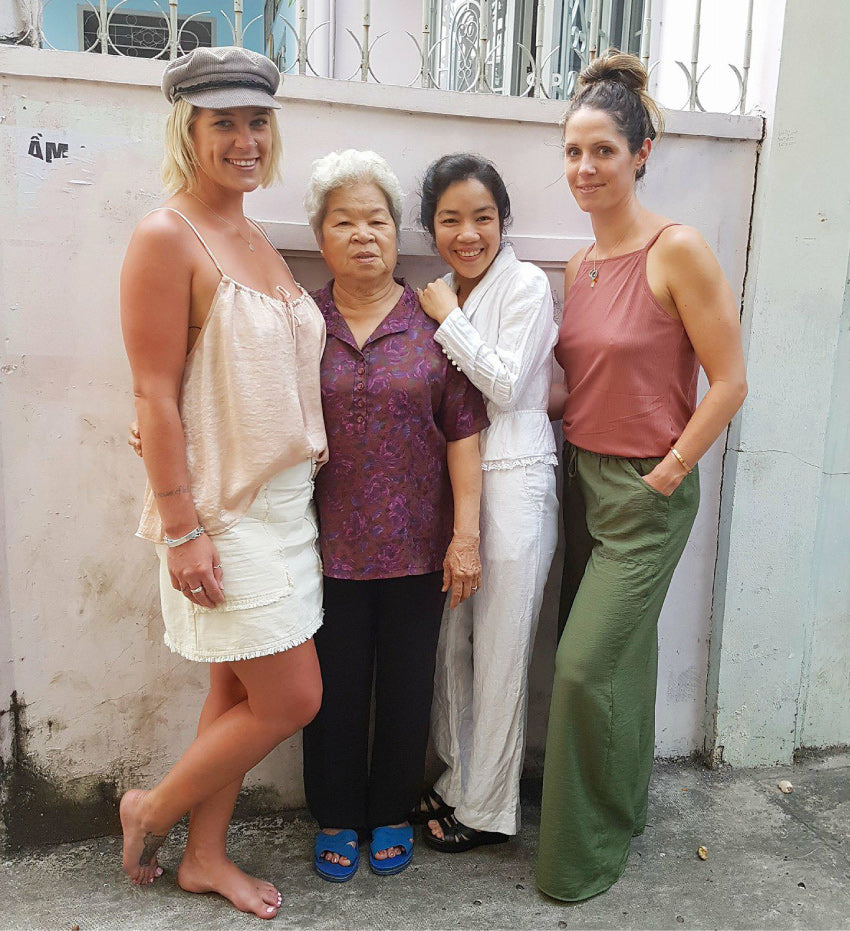 Janelle, Nicki and seamstresses from The Travelling Kimono