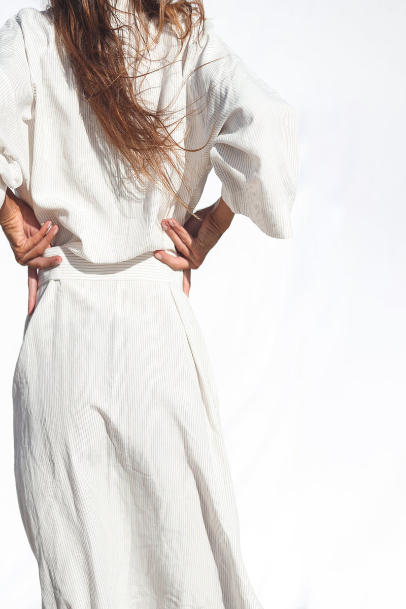 Striped Linen Robe
