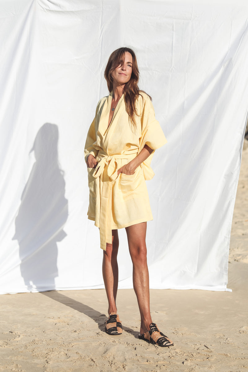 Marigold Short Robe