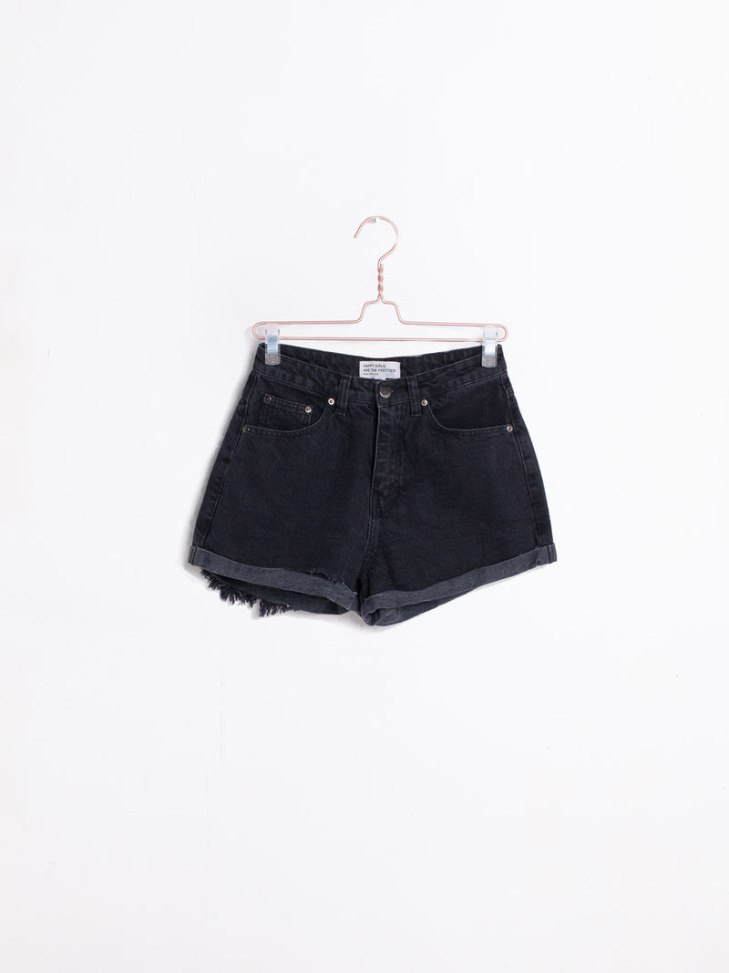 The Roll Up Shorts in Black by Les Basics - PREORDER