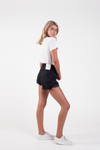 The Roll Up Shorts in Black by Les Basics