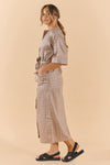 Luxe Linen Robe Pastel Yellow
