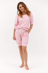 Ribbed Cotton Spring Trackset - Candy Pink