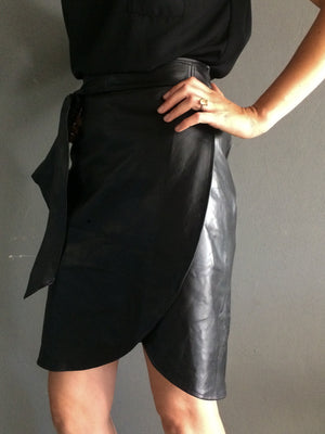 HEIRLOOM LEATHER | THE MINI OR MIDI WRAP SKIRT