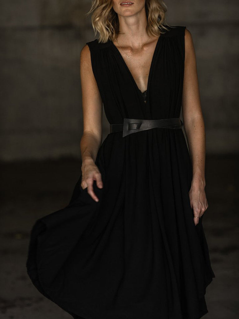 BLACK | THE FLOW DRESS