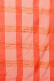 Orange Pure Tussar Silk Sheer Saree with All Over Woven Checks