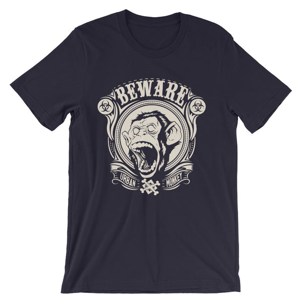 Beware Urban Monkey Unisex short sleeve t-shirt