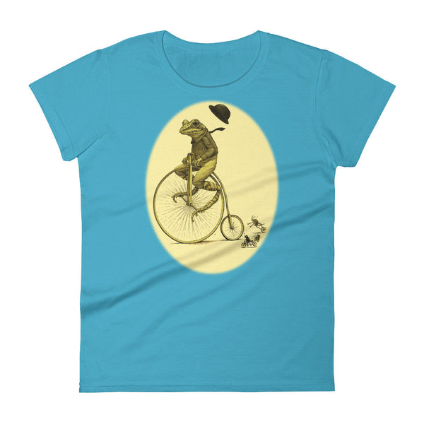Frog on Bike Women's short sleeve t-shirt