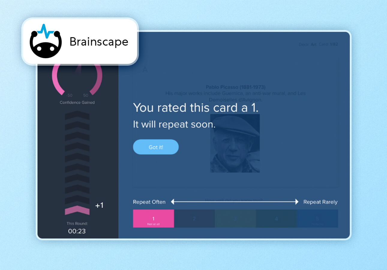 An image of the Brainscape app interface.
