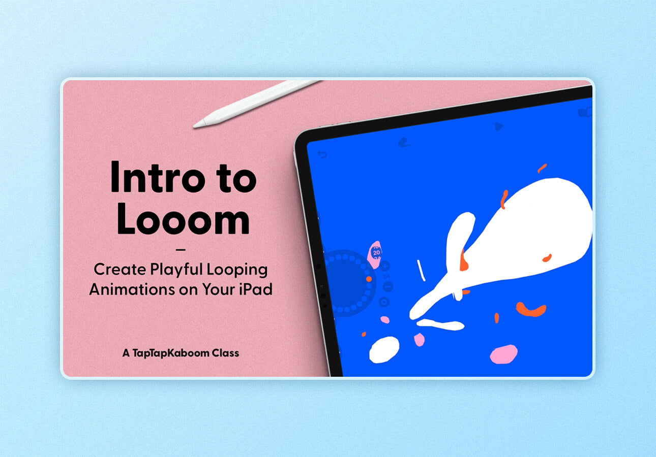 An image depicting a title card for the Skillshare class Intro to     Looom by Rich Armstrong.