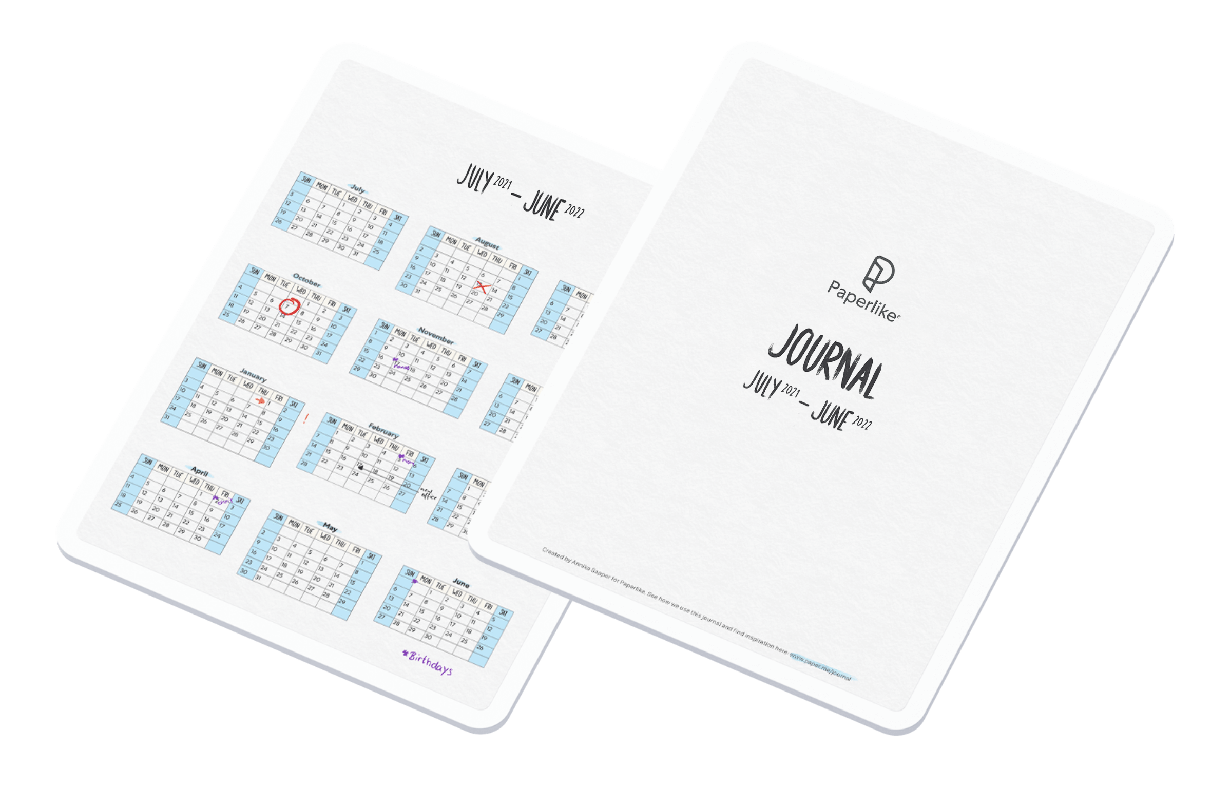 Image of iPads with the Paperlike Digital Journal