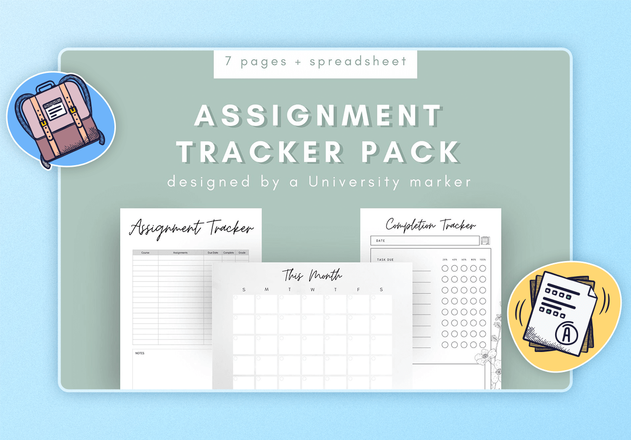 An image depicting a unique assignemtn tracker note-taking pack.