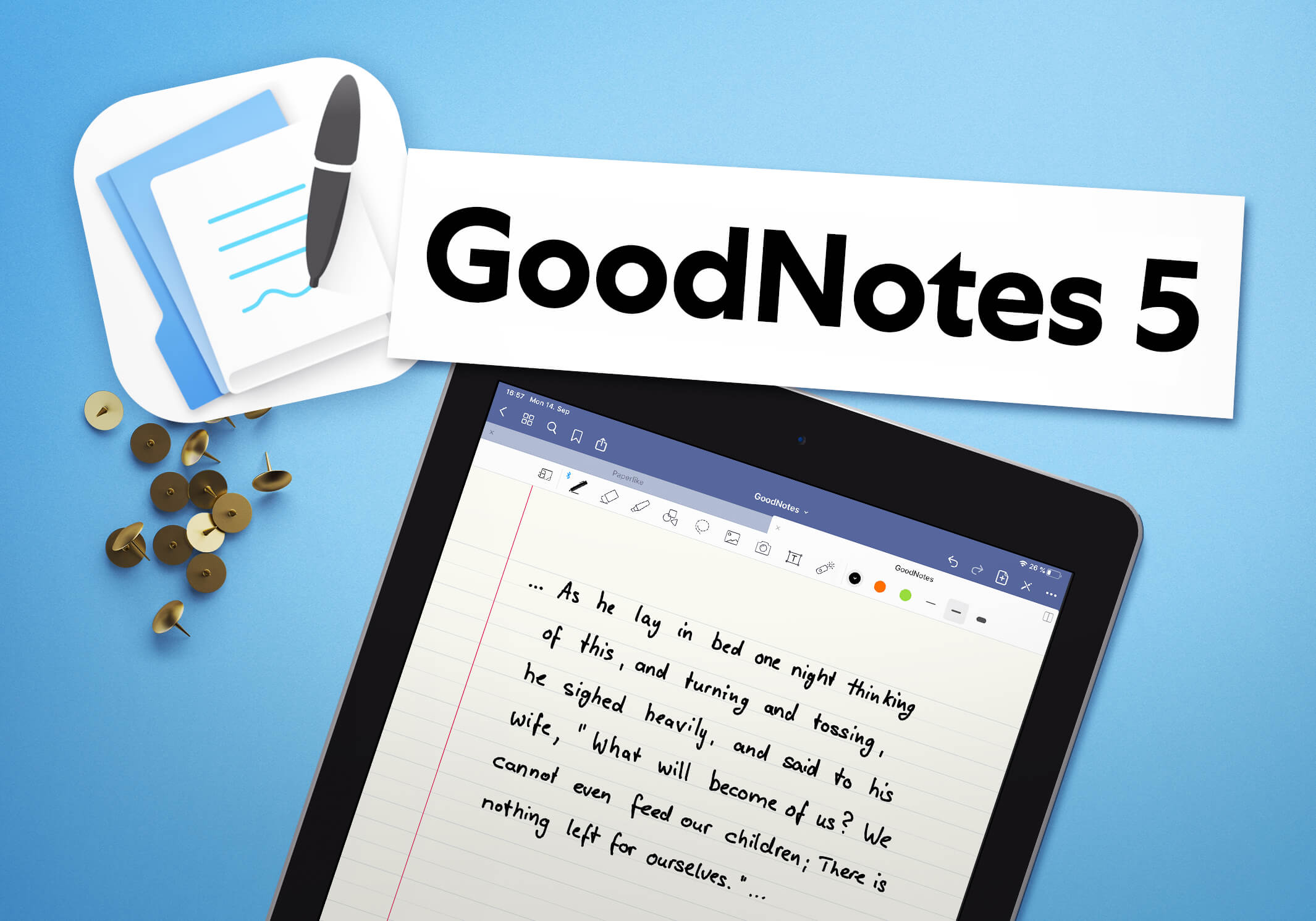 A title card for the GoodNotes 5 comparison section.