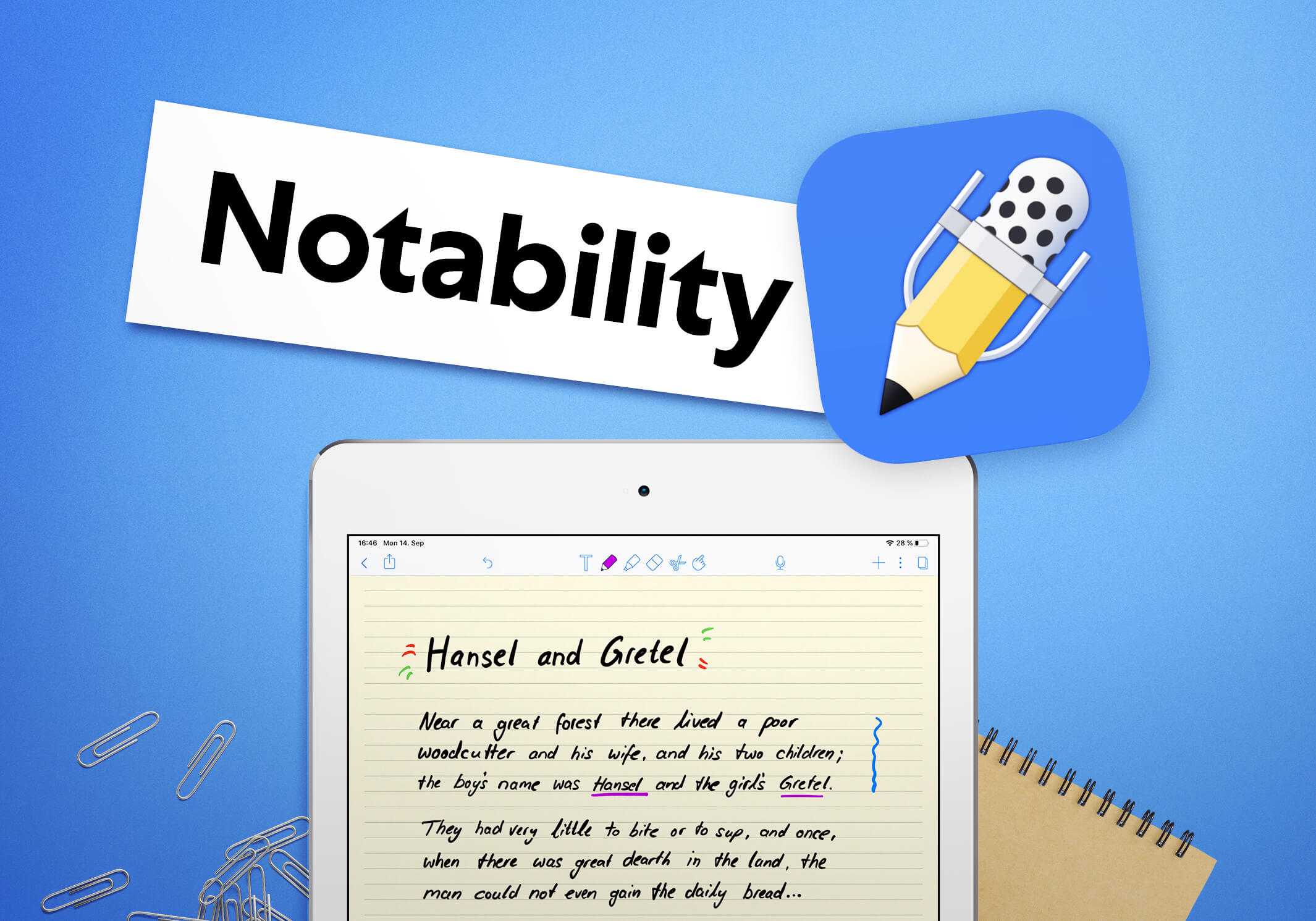 A title card for the Notability comparison section.