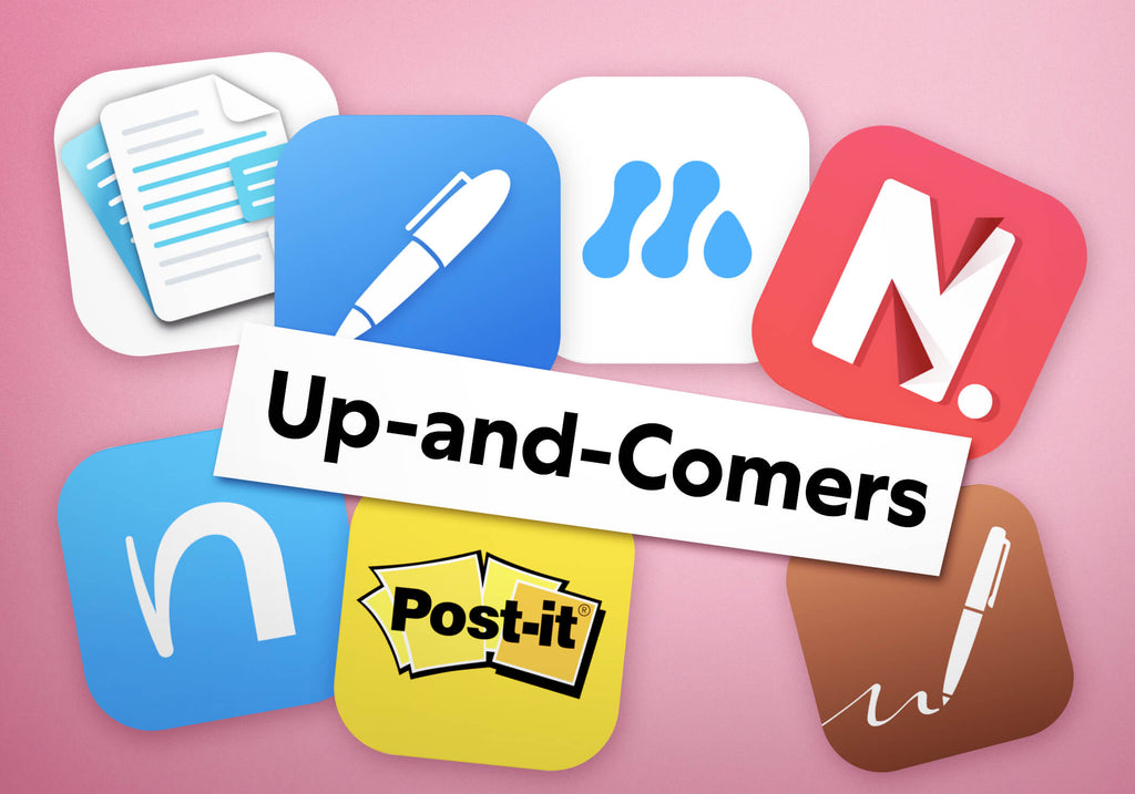 Image of Up-and-Comers of note taking apps