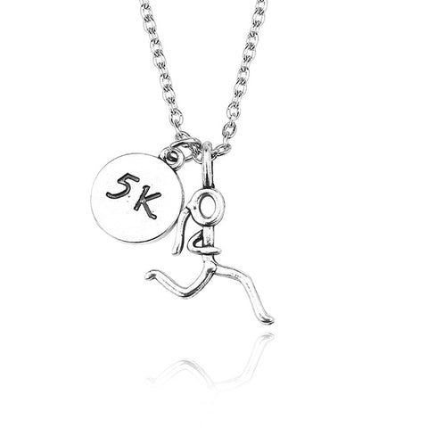 Running Pendant with Necklace