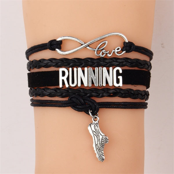 Unisex LOVE RUNNING Bracelets (collection)