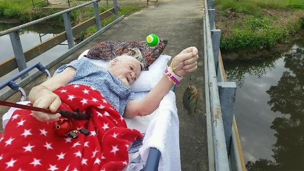 Veteran Catches Final Fish as Dying Wish