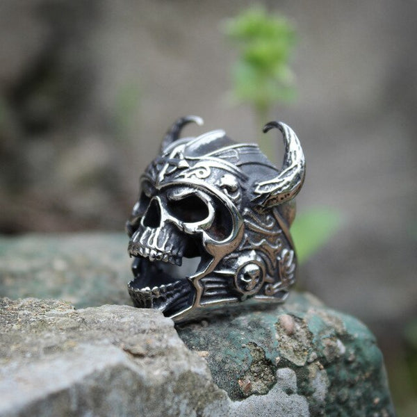 Viking Warrior Skull Rings