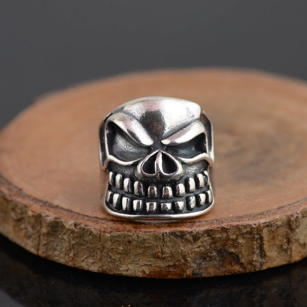 Authentic 925 Sterling Silver Skull Open Rings for Men