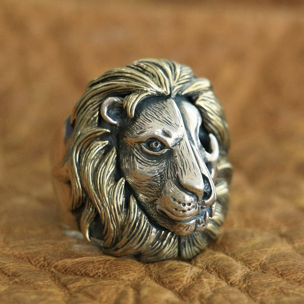 3D Lion & Skull Ring (Highest Quality 925 Sterling Silver)