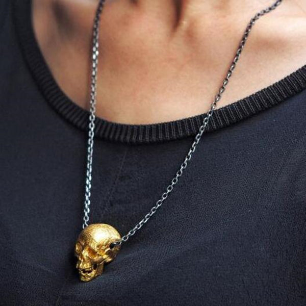 GOLD Skull Pendants Necklaces
