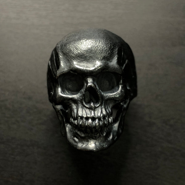 Sterling Silver Skull Ring / Black edition | Large Size
