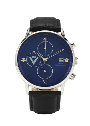 Edict Watch - Blue with Black Leather