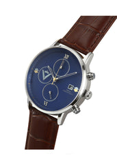 Men Edict Watch - Blue with Leather