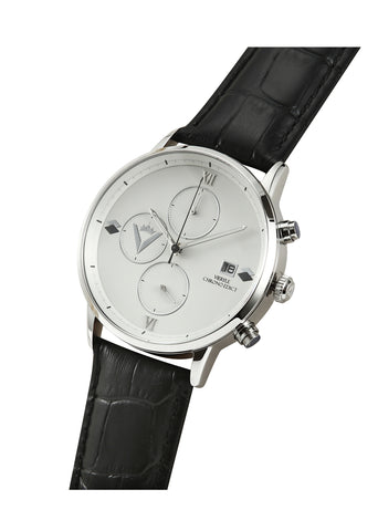 Edict Watch - White/Black with Leather
