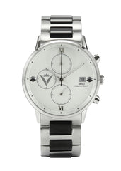 Men Edict Watch - White/Black with Bracelet