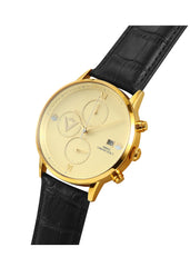 Edict Watch - Cream with Black Leather