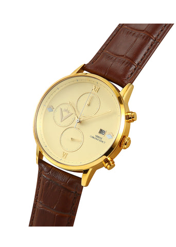 Edict Watch - Cream with Leather