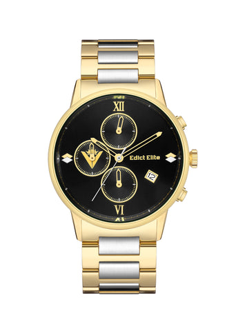 Edict Elite Watch 2020 Motherland Edition - Black with Gold/Silver Bracelet