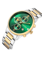Edict Elite Watch 2020 Motherland Edition - Green with Silver/Gold Bracelet
